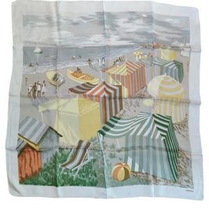 🇨🇦 Vintage 50s Kreier silk neckerchief in EUC